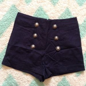 LOST vintage pinup style nautical shorts XS 26